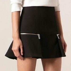 MICHAEL KORS Black Knit Mini Skirt Flounce Hem 2